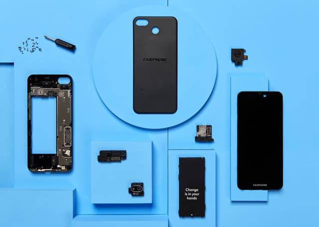 Le Fairphone 3+, conçu pour pouvoir être facilement réparé et donc pour durer !