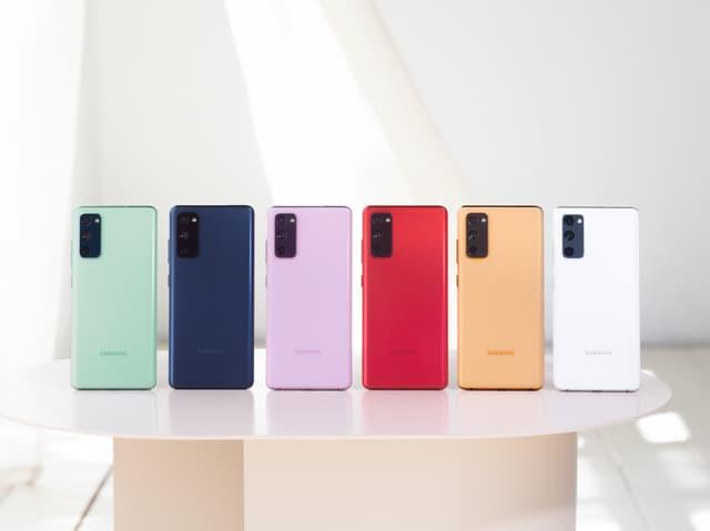 Les différentes coloris du Samsung Galaxy S20 FE