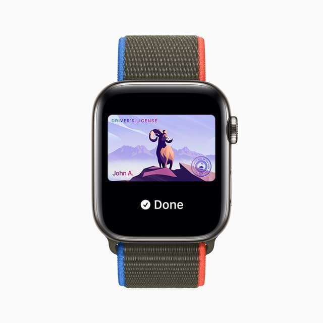 Aux États-Unis, plus besoin de sortir ses papiers, on pourra présenter son permis de conduire directement sur son Apple Watch.