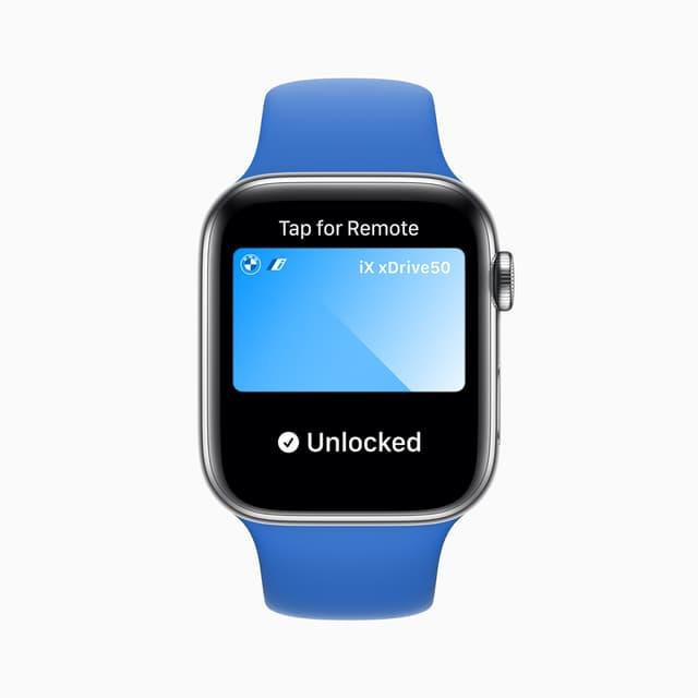 Selon le modèle, il sera bientôt possible d'ouvrir une voiture et même allumer le moteur rien qu'avec une Apple Watch (Series 6) au poignet.
