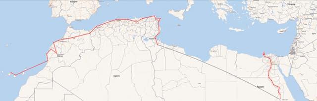 Pékin Express : la route du Maghreb. Départ : les Îles Canaries, arrivée : Alexandrie.