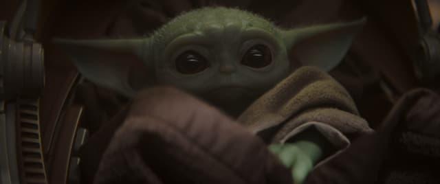 """""""Bébé Yoda"""", dans The Mandalorian sur Disney+."""