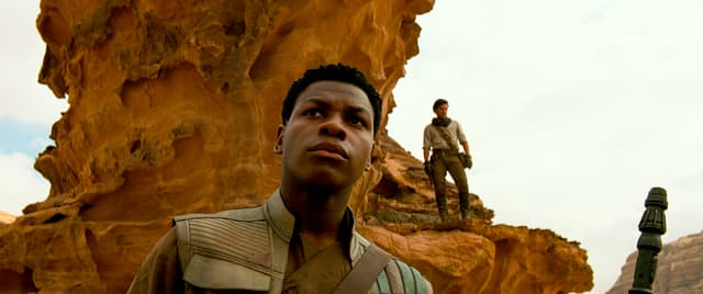 Finn et Poe dans Star Wars IX : L'Ascension de Skywalker.