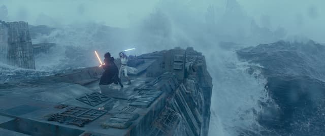Kylo Ren et Rey ont l'air contents de se retrouver dans cet ultime chapitre de Star Wars...