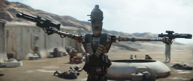Le robot chasseur de primes doublé par Taika Waititi dans The Mandalorian.