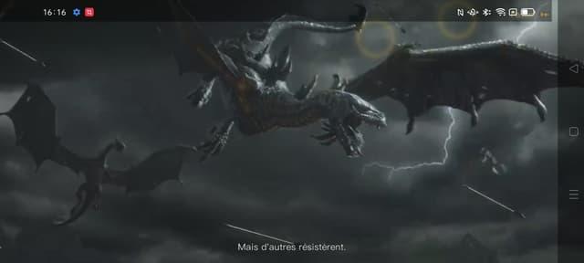 Les cinématiques de jeux vidéo tournent avec une fluidité optimale (capture d'écran OPPO Reno6 Pro)