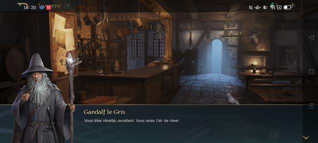 Toujours un plaisir de rencontrer Gandalf dans le jeu Lord of the Rings : Rise to War (capture d'écran du OPPO Reno6 Pro)