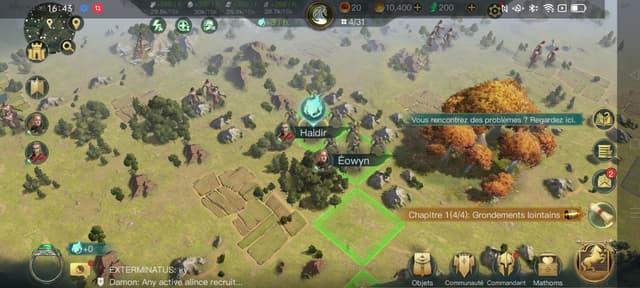 Un jeu exigeant comme Lords of the Rings : Rise to War tourne très facilement sur le OPPO Reno6 Pro (capture d'écran)