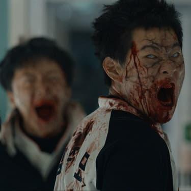 Un zombie absolument terrifiant dans le film coréen Dernier train pour Busan, réalisé par Yeon Sang-ho.