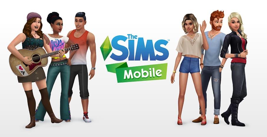 Affiche promotionnelle du jeu Les Sims Mobile.
