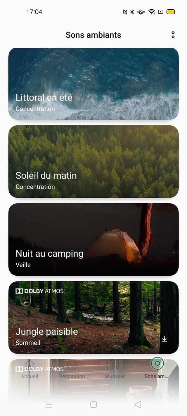 OPPO Relax propose différentes formes d'animations pour se détendre