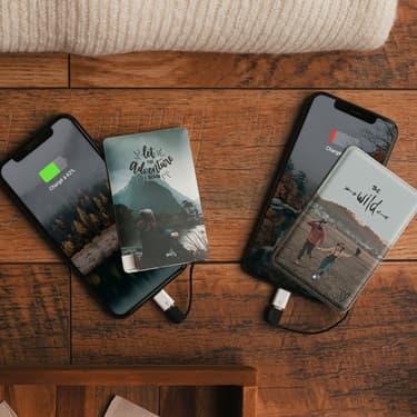 Idée cadeau de Noël : une batterie externe personnalisable