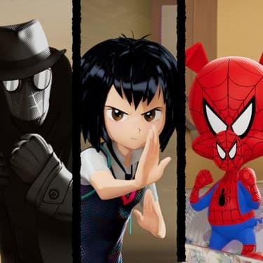 Les différentes versions de Spider-Man dans le film Spider-Man : New Generation.