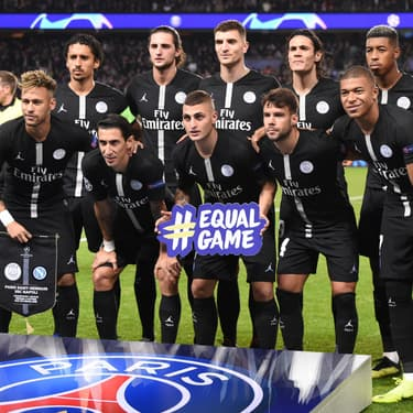 L'équipe du Paris Saint-Germain lors du match face à Naples en Ligue des Champions, le 24 octobre 2018.