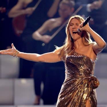 Céline Dion dans toute sa splendeur en concert à Las Vegas le 22 mai 2016.