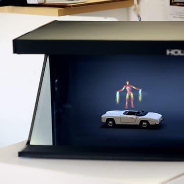 Holofil, start-up néerlandaise développant la publicité holographique, était présente au salon Viva Technology 2019.