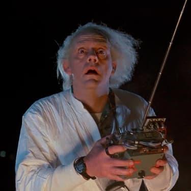 Marty McFly et Doc, les deux personnages principaux de Retour vers le Futur.