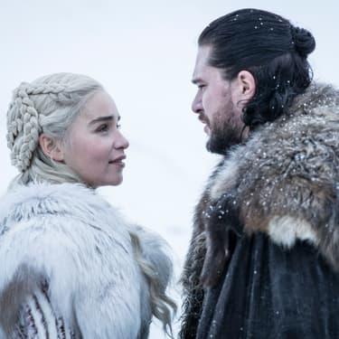 Jon Snow et Daenerys Targaryen, dont le destin est plus qu'attendu dans la saison 8 de Game of Thrones.