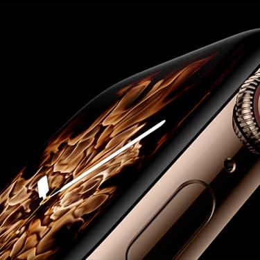 L'Apple Watch Series 4 lors de sa présentation.