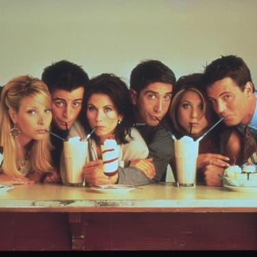 Les stars de Friends : Lisa Kudrow, Matt LeBlanc, Courtney Cox, David Schwimmer, Jennifer Aniston et Matthew Perry.