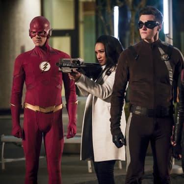 La team Flash dans la saison 5 de la série DC Comics.