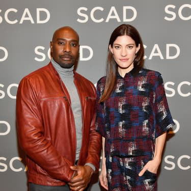 Morris Chestnut et Jennifer Carpenter, lors de la promotion de The Enemy Within à Atlanta, en février 2019.