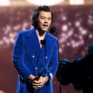 Harry Styles lors de la cérémonie du Rock & Roll Hall Of Fame, à New York, le 29 mars 2019.