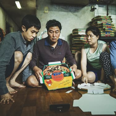 Parasite de Bong Joon-Ho, film ayant remporté la Palme d'or du Festival de Cannes 2019.