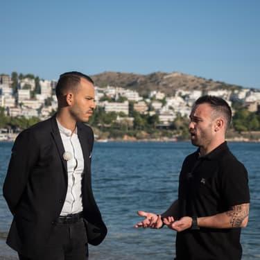 """Mohamed Bouhafsi et Mathieu Valbuena en pleine discussion dans """"Comme Jamais"""" sur RMC Sport"""
