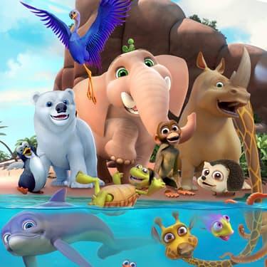 Tous les animaux de la jungle sont réunis sur SFR Kids Jeux.
