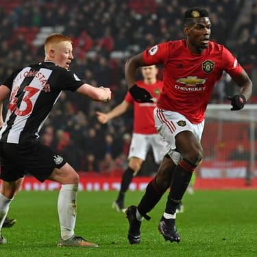 Paul Pogba contre Newcastle, le 26 décembre 2019 à Manchester.