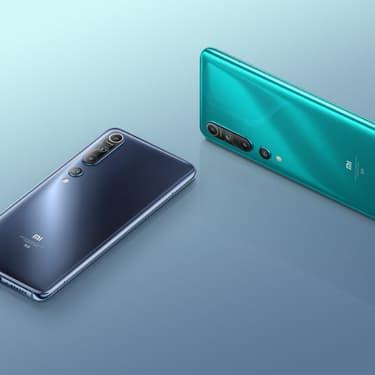 Le Xiaomi Mi 10, un joli modèle parmi les smartphones compatibles 5G.