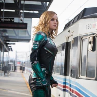 Brie Larson dans la peau de Carol Danvers dans le film Captain Marvel.