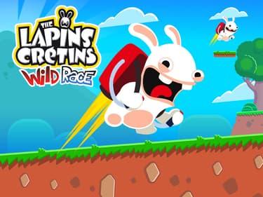 Faites la course en jet pack avec les Lapins Crétins sur SFR Jeux