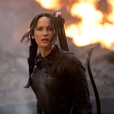 Katniss Everdeen (Jennifer Lawrence), héroïne de la série de films Hunger Games.