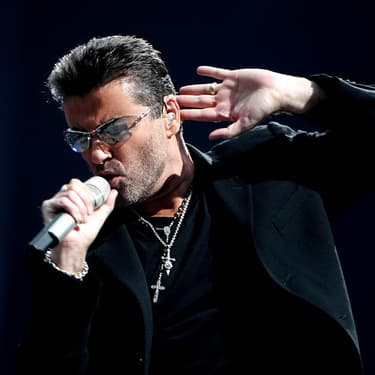 George Michael en concert à Amsterdam, le 26 juin 2007.