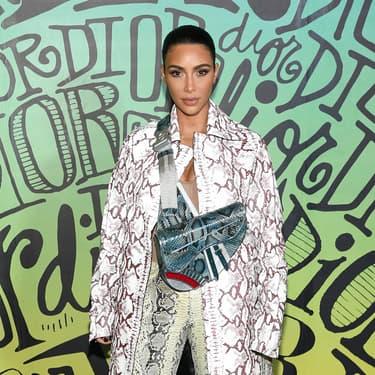 Kim Kardashian lors de la présentation de la collection automne de Dior, en 2019.