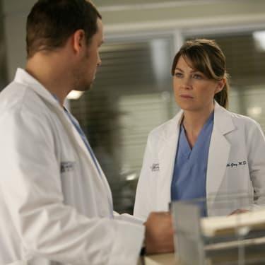 Meredith Grey et Alex Karev dans la saison 7 de Grey's Anatomy.
