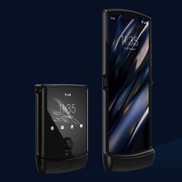 Le RAZR, premier smartphone pliable de Motorola.