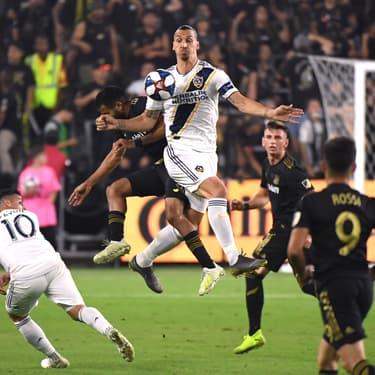 Zlatan Ibrahimovic lors du derby Los Angeles Galaxy - Los Angeles FC en demi-finale de la Conférence Ouest, le 24 octobre 2019.