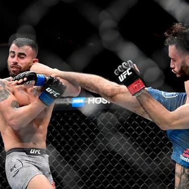 Makwan Amirkhani et Shane Burgos s'affrontent en mi-lourds à l'UFC 244, au Madison Square Garden à New York, le 2 novembre 2019.