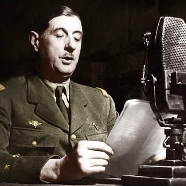 Charles de Gaulle lors de l'Appel du 18 juin 1940.