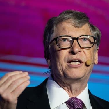 Bill Gates, fondateur de Microsoft, lors d'une conférence à Pékin en novembre 2018.