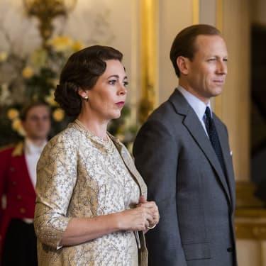 """Olivia Colman reprend le rôle de la Reine Elisabeth II et Tobias Menzies celui du prince Philip, dans la saison 3 de """"The Crown""""."""