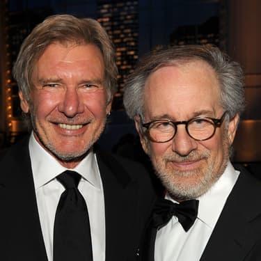Steven Spielberg et Harrison Ford à la 38e édition de l'AFI Life Achievement Award en juin 2010.