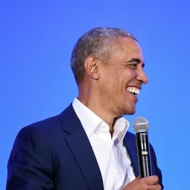 Barack Obama lors d'une conférence discours en février 2019, en Californie.