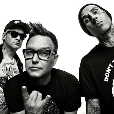 Matt Skiba, Mark Hoppus et Travis Barker de blink-182