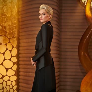 Nyssa-Vex (Wallis Day), personnage clé de l'intrigue de la série Krypton diffusée sur SYFY.