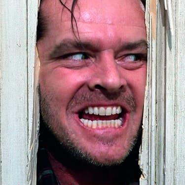 Jack Nicholson dans Shining de Stanley Kubrick.