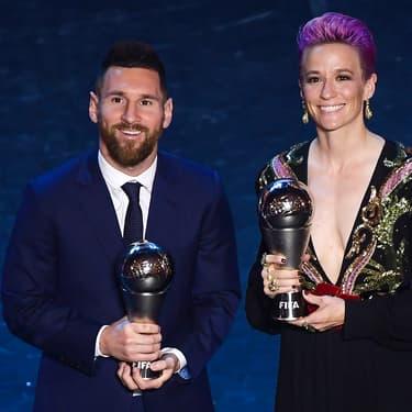 Messi et Rapinoe meilleur joueur et meilleure joueuse FIFA The Best